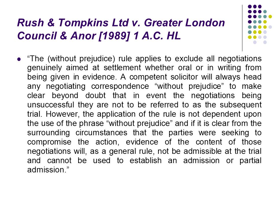Rush & Tompkins Ltd v. Greater London Council & Anor [1989] 1 A.C. HL